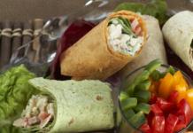 Shrimp salad wraps