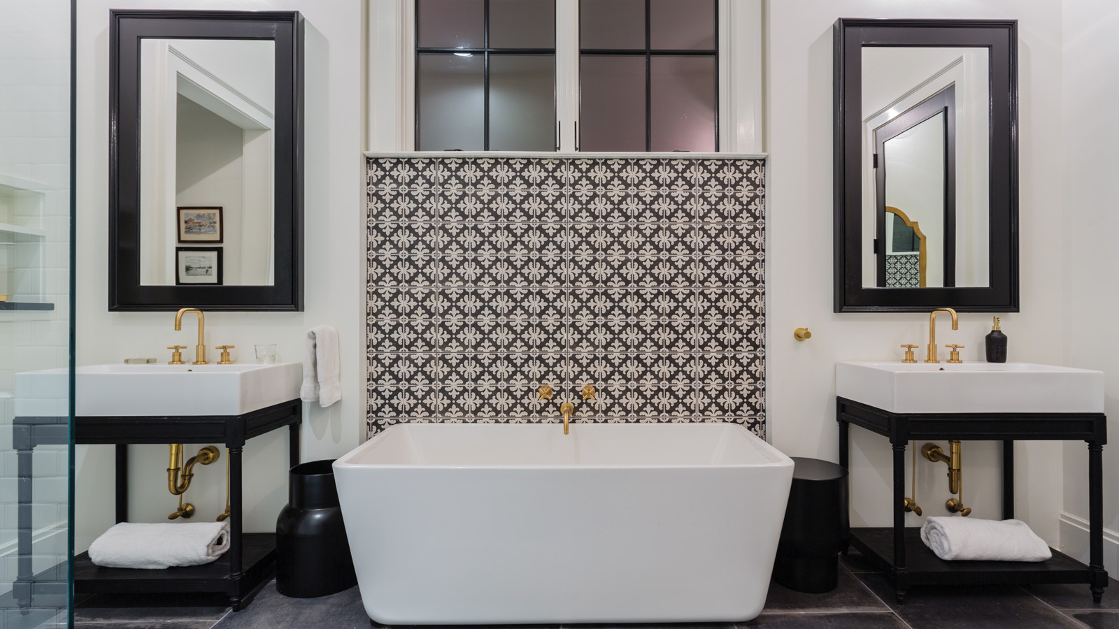 modern traditional master bath zero waste