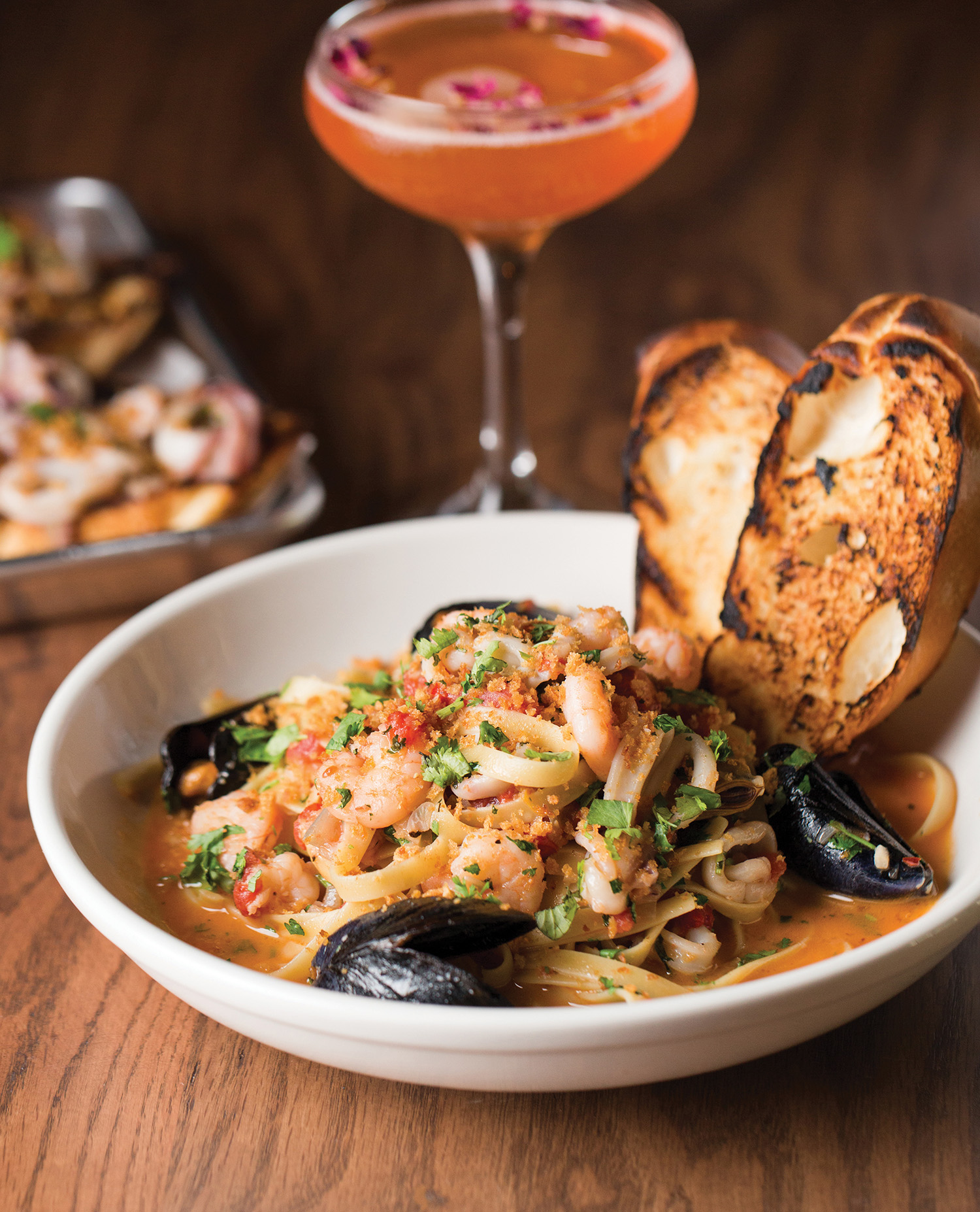 Bowl of Seafood pasta at Squid Ink
