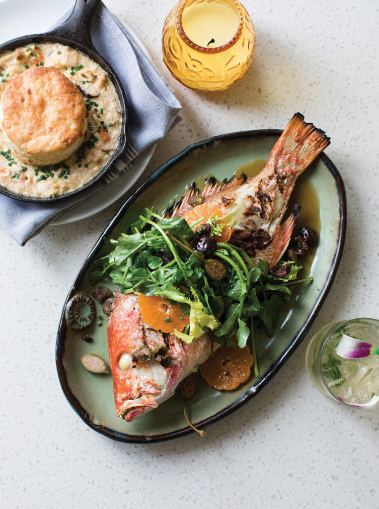 Whole grilled fish from The Hummingbird Way